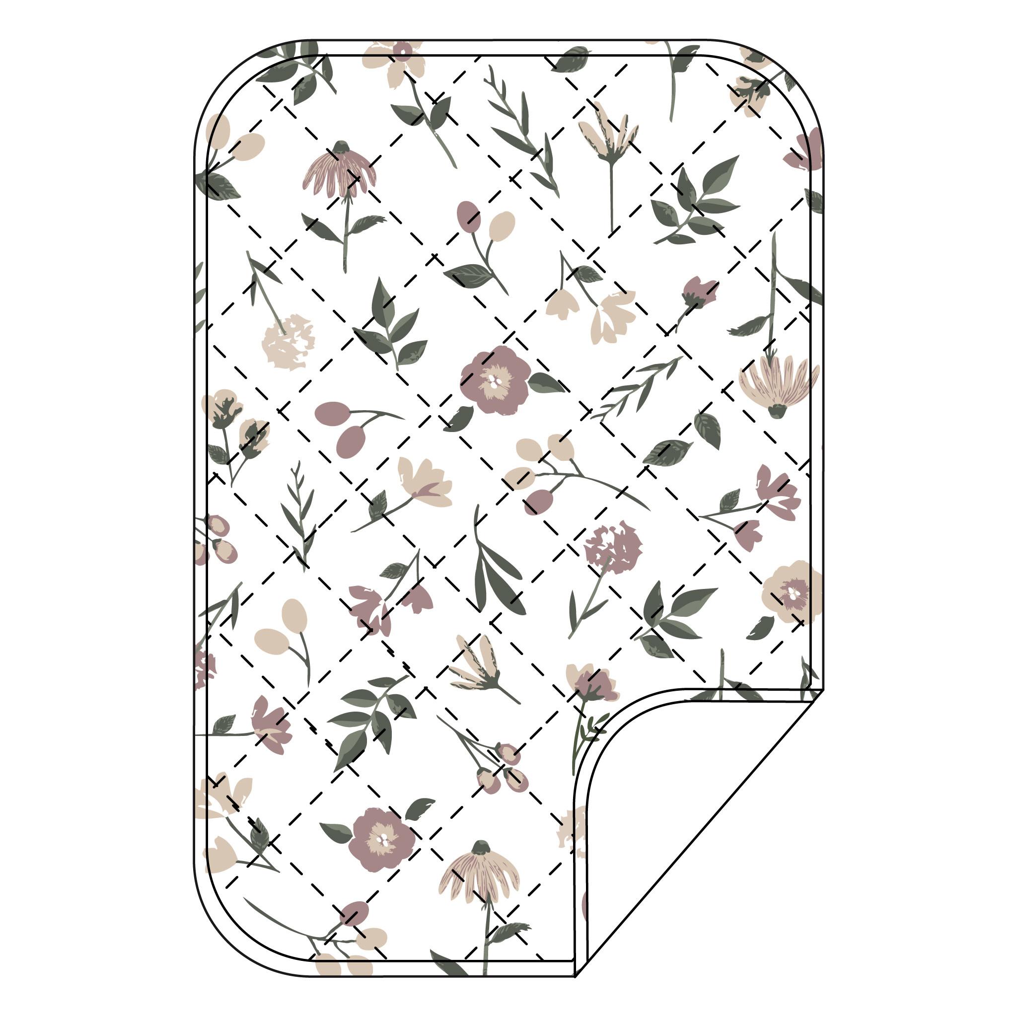 Piqué imperméable en coton - Floral-1