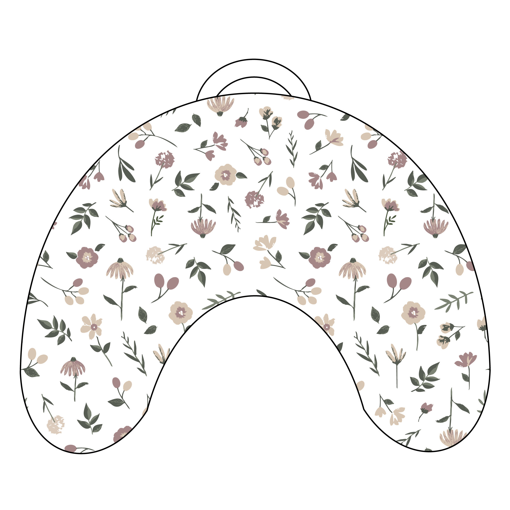 Coussin d'allaitement - Floral-1