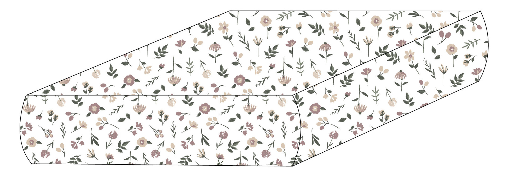 Drap contour coton - Floral
