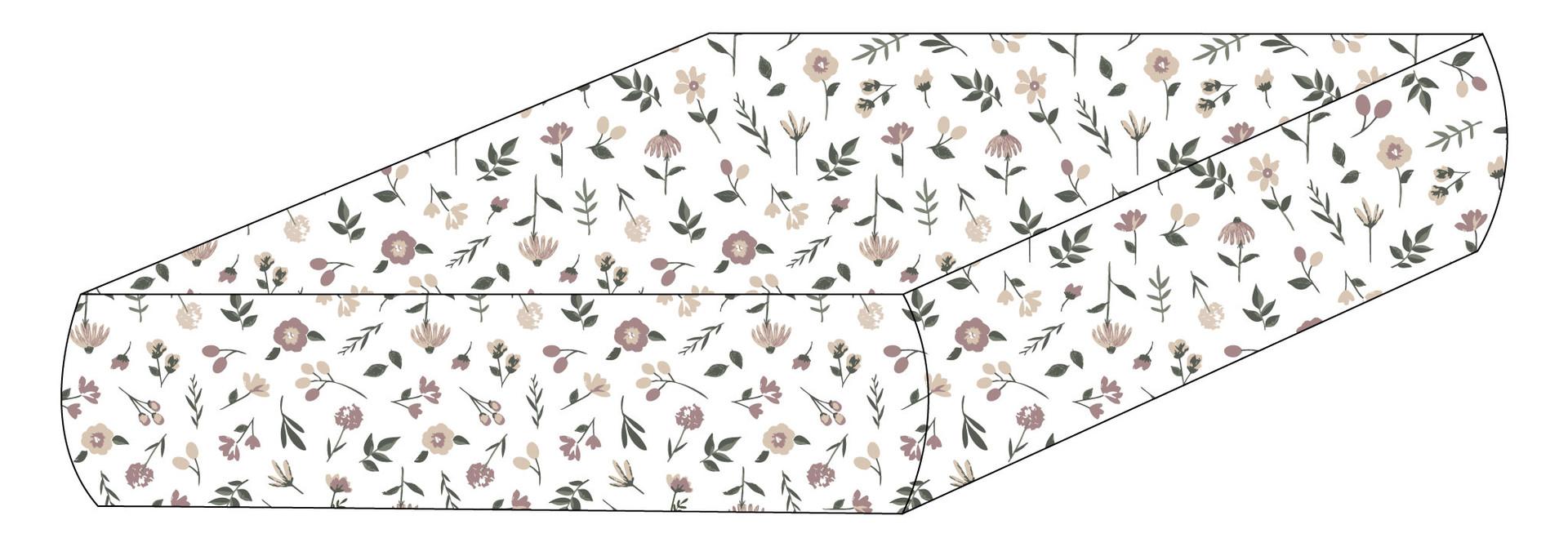 Drap plat coton - Floral