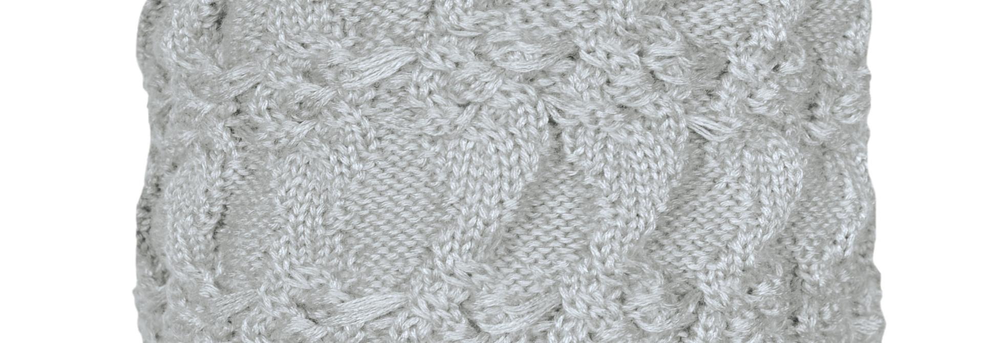 Bonnet en tricot - Gris pâle
