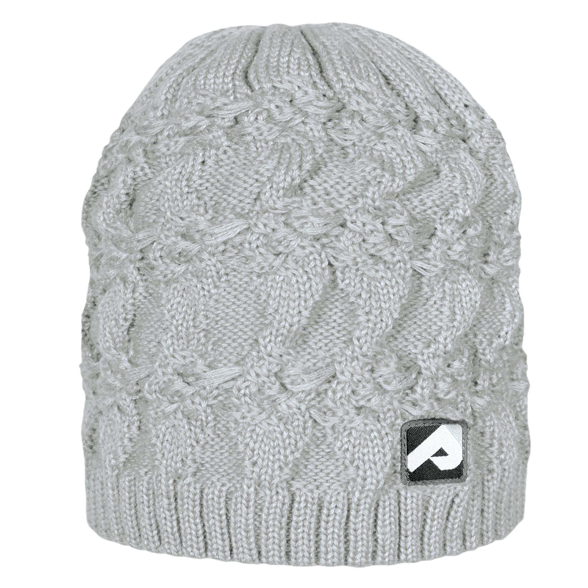 Bonnet en tricot - Gris pâle-1