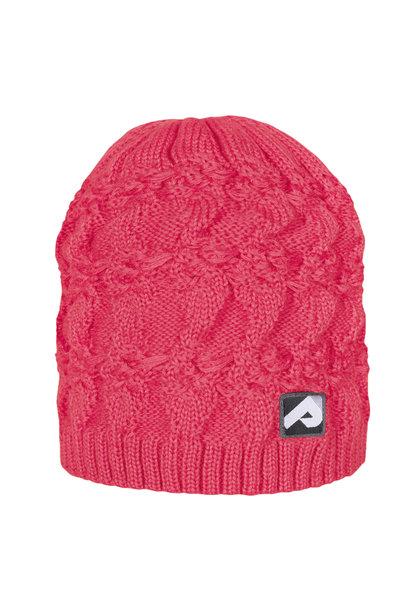 Bonnet en tricot - Corail