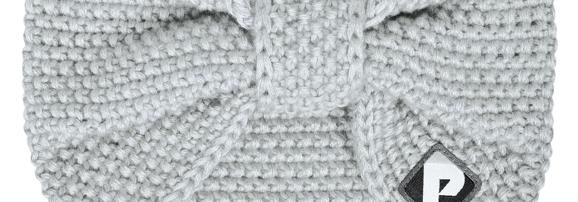 Bandeau en tricot - Gris pâle