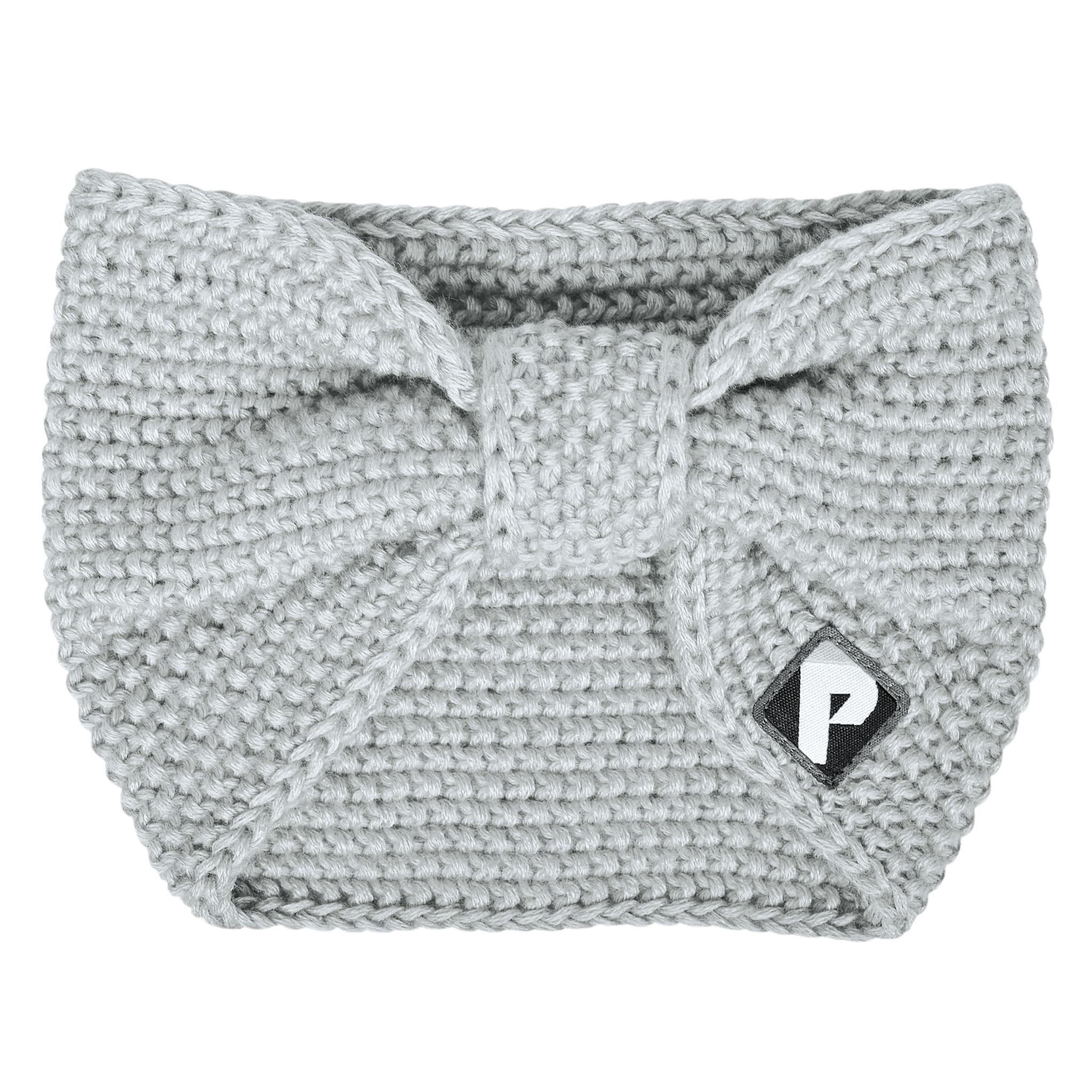 Bandeau en tricot - Gris pâle-1