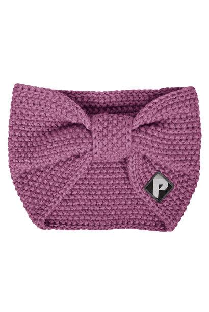 Bandeau en tricot - Prune