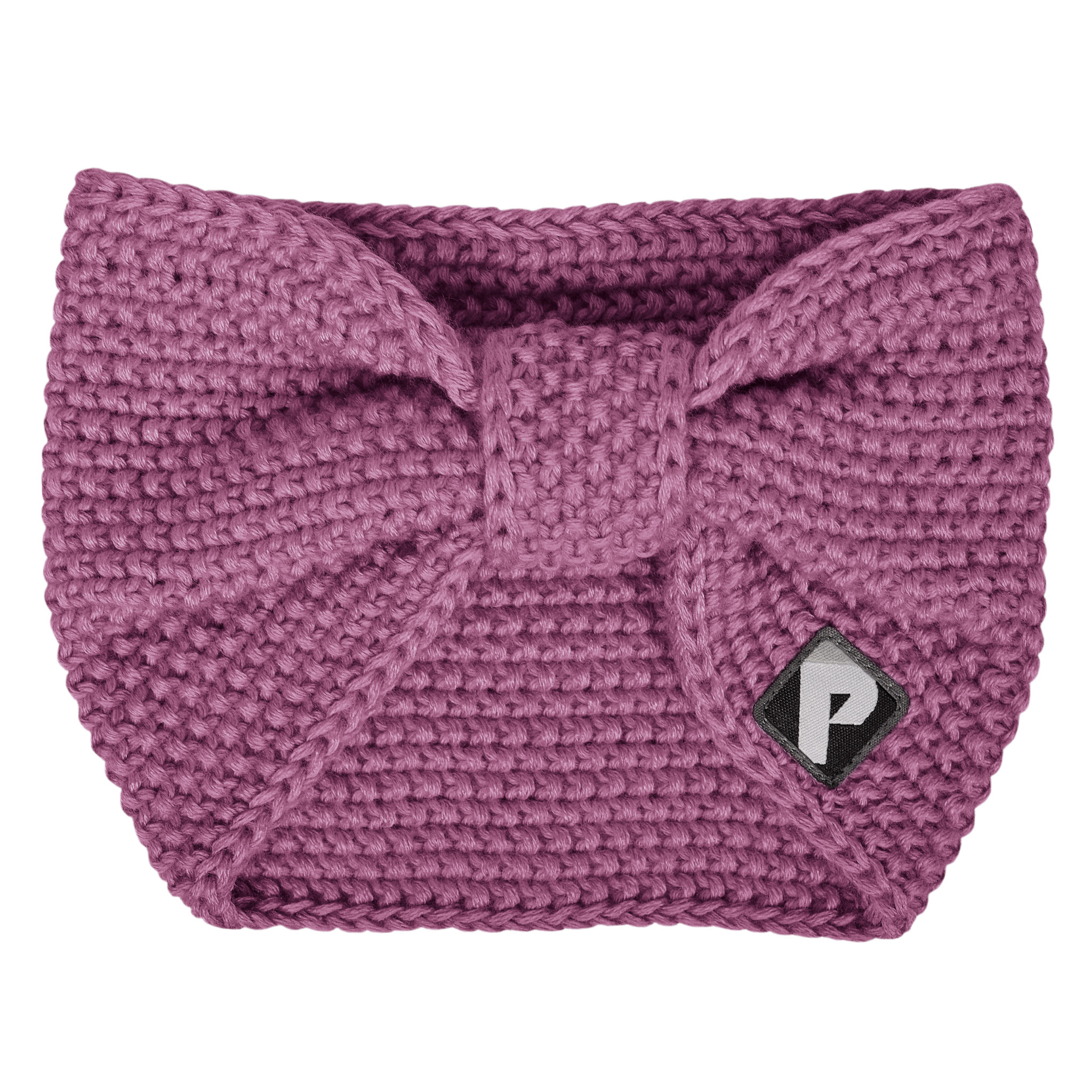 Bandeau en tricot - Prune-1