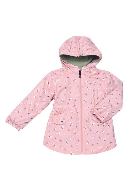 Manteau mi-saison - Libellules Rose