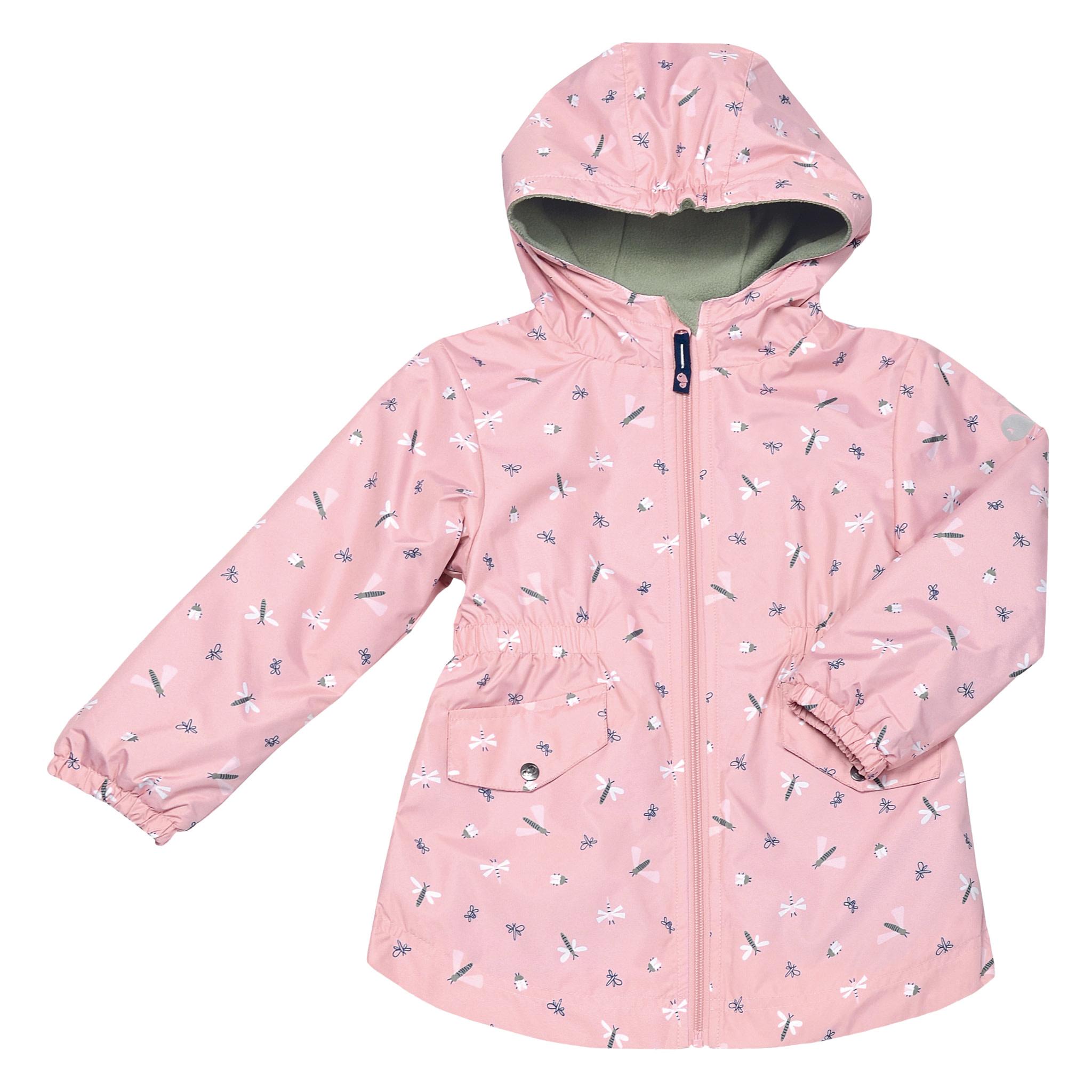 Manteau mi-saison - Libellules Rose-1