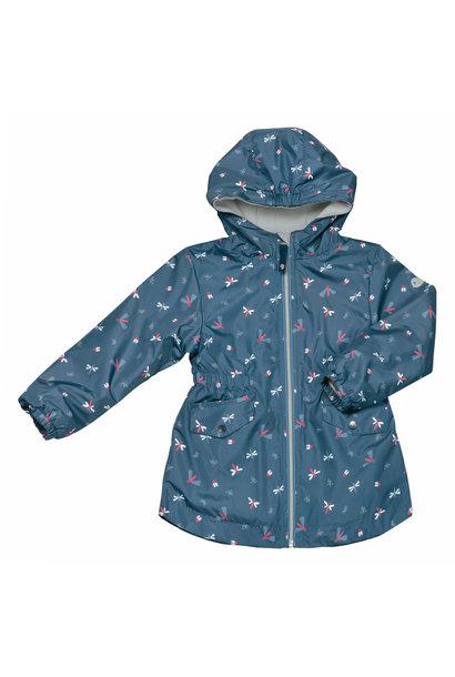 Manteau mi-saison - Libellules  Bleu