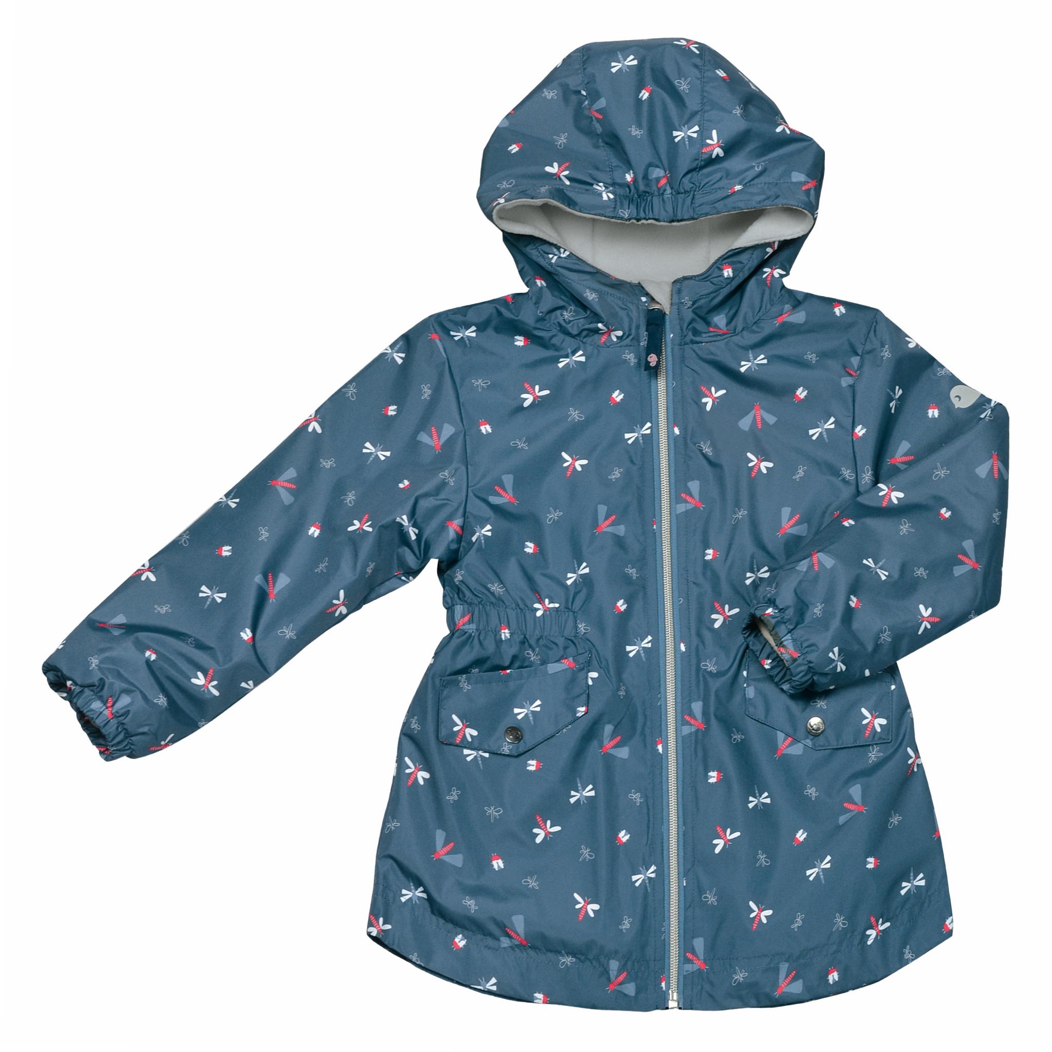 Manteau mi-saison - Libellules  Bleu-1