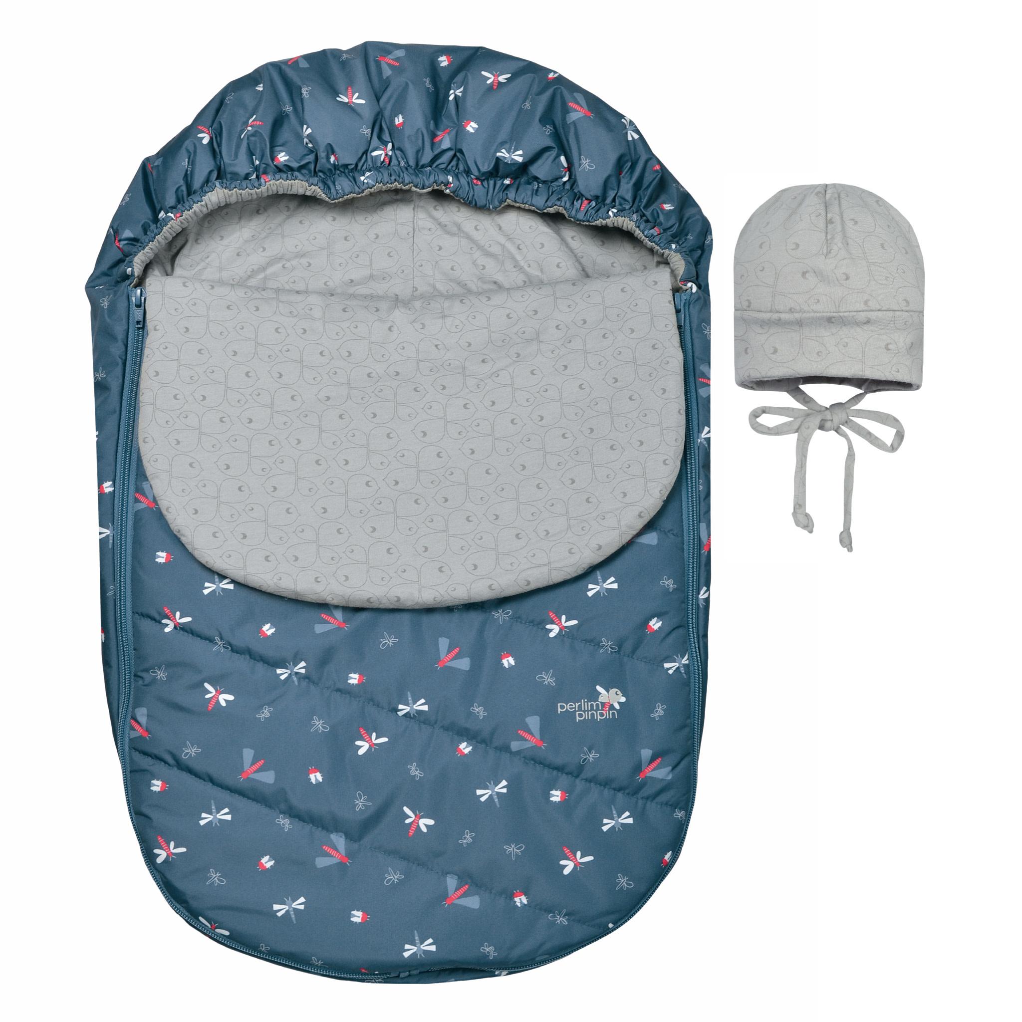 Couvre-siège de voiture mi-saison - Libellules Bleu-1