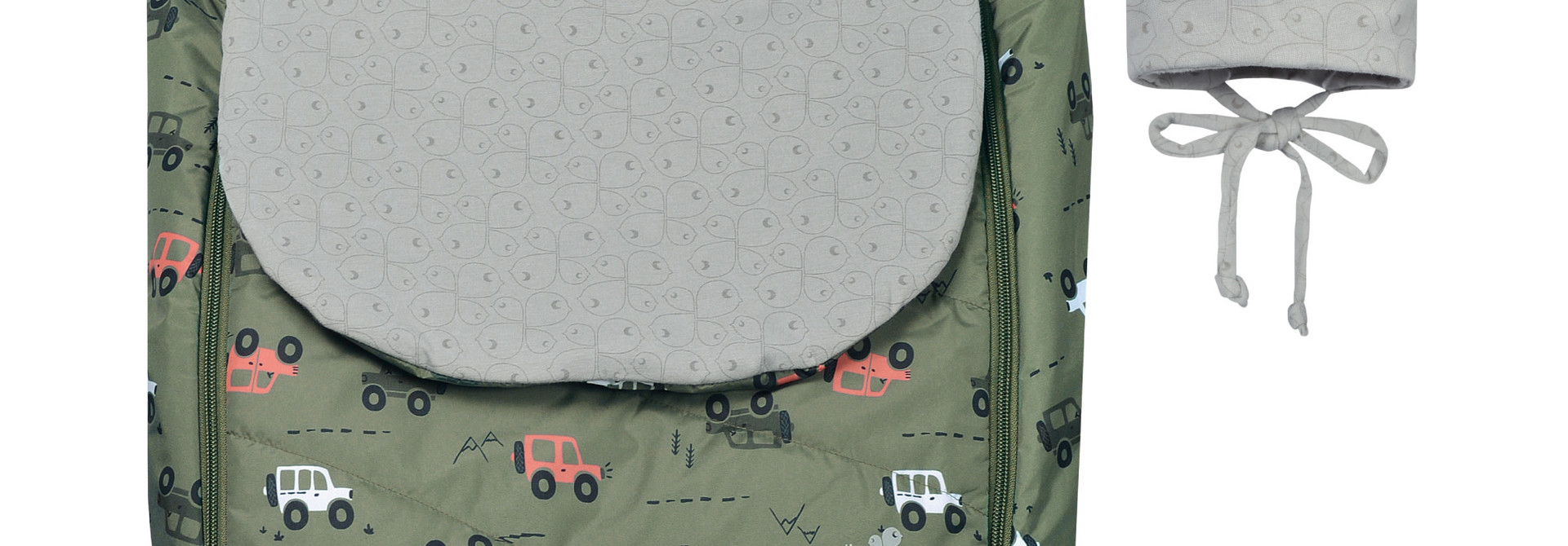 Couvre-siège de voiture mi-saison - Jeeps kaki