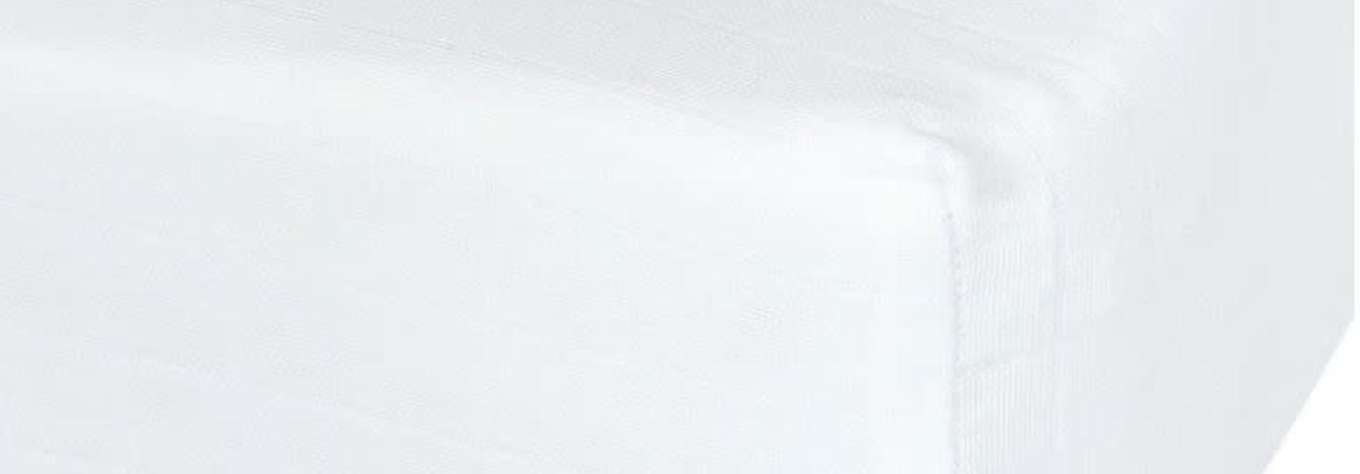 Drap contour en mousseline - Blanc