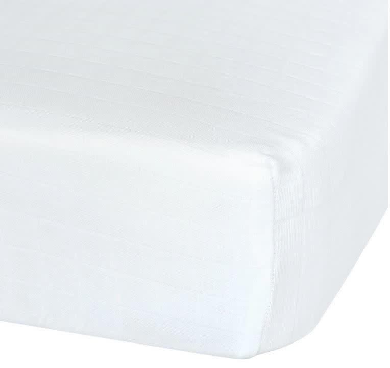 Drap contour en mousseline - Blanc-1