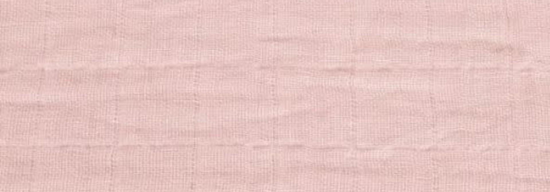 Drap contour en mousseline - Rose