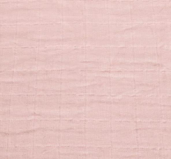 Drap contour en mousseline - Rose-1