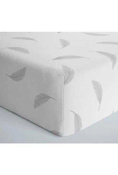 Drap contour coton flanelle - Plumes