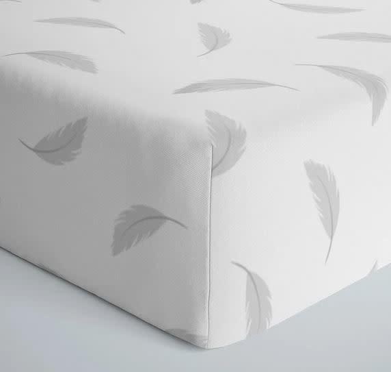 Drap contour coton flanelle - Plumes-1