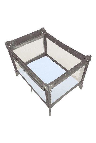 Drap pour bassinette en flanelle Étoiles grises