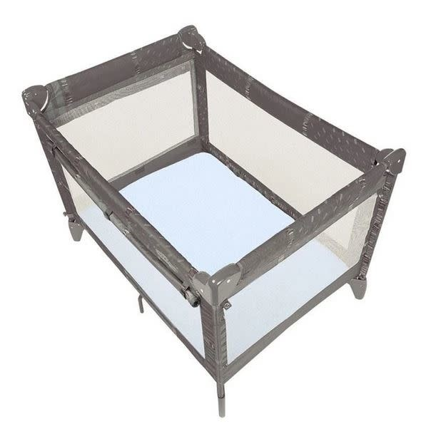Drap pour bassinette en flanelle Étoiles grises-1