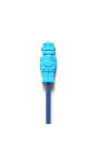 Croque crayon - Robot Bleu