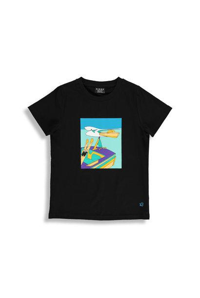 T-shirt noir - WATER SKI
