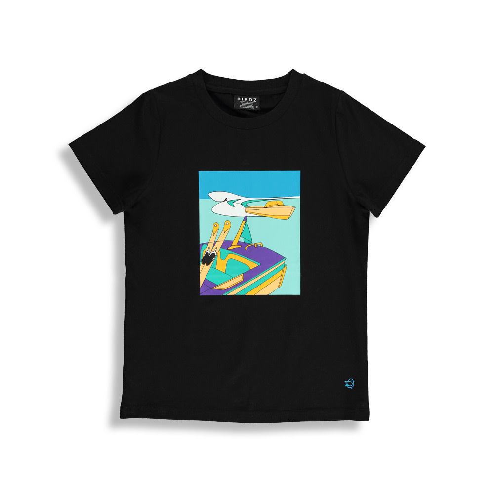 T-shirt noir - WATER SKI-1