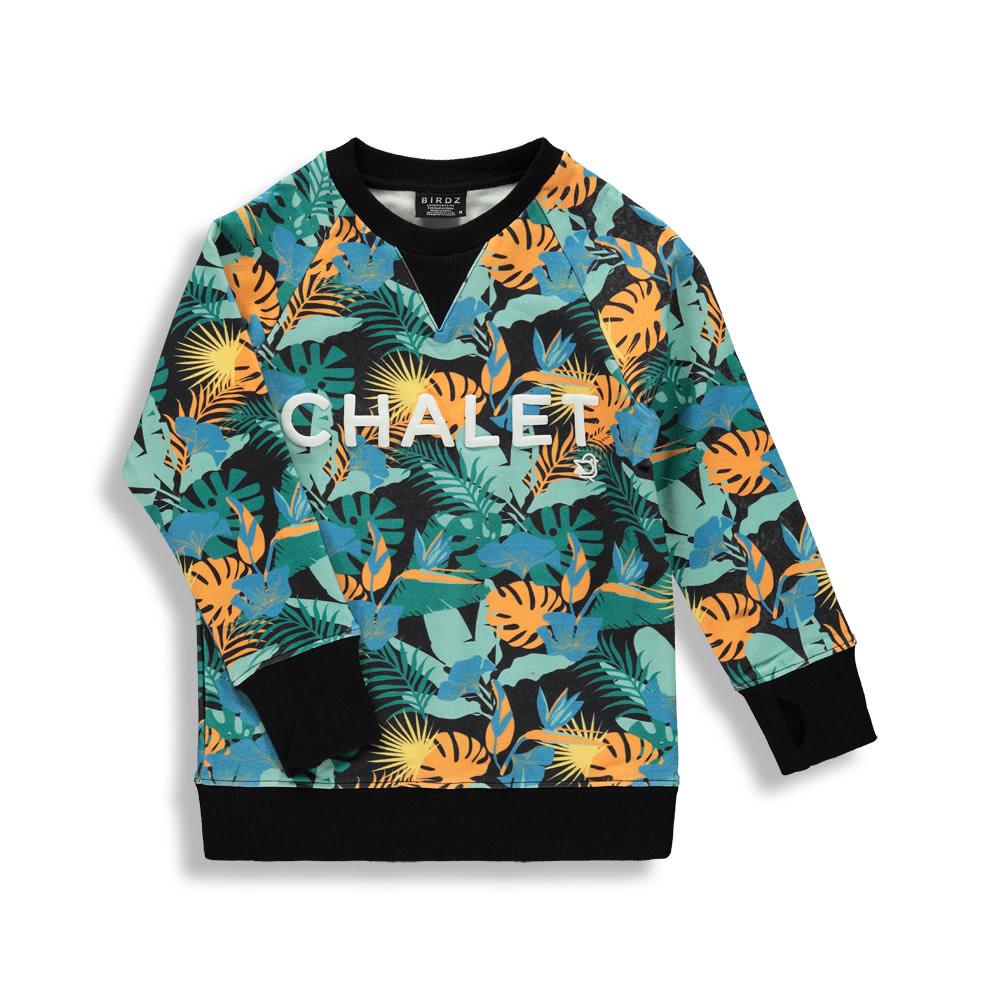 Coton ouaté Jungle noire - CHALET-1