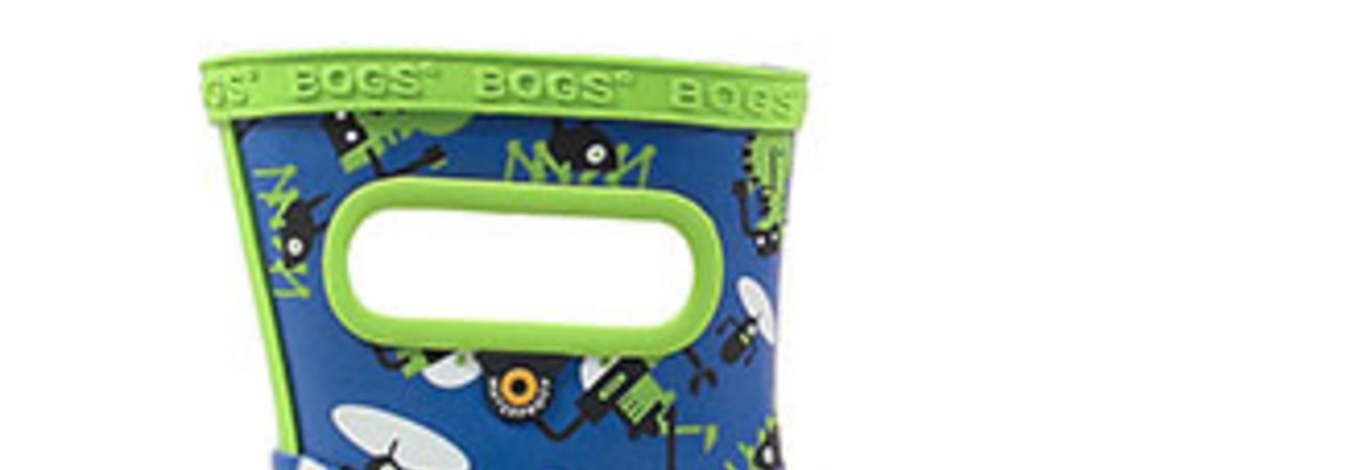 Bottes d'eau Bogs - ROBOTS Bleus