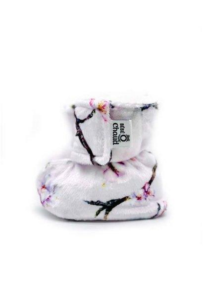 Pantoufles à velcro - Cerisier