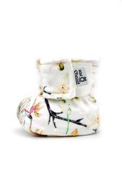 Pantoufles à velcro - Fleurs Séchées