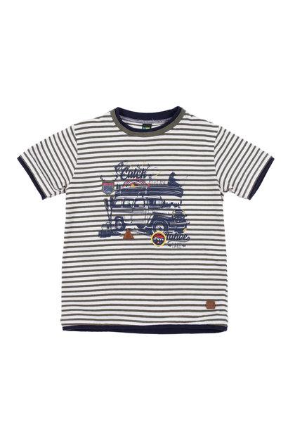 T-Shirt à rayures Lâcher prise