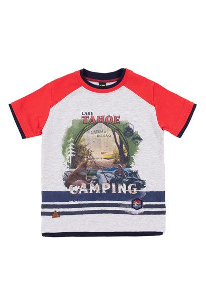 T-Shirt avec imprimé pêche Lâcher prise