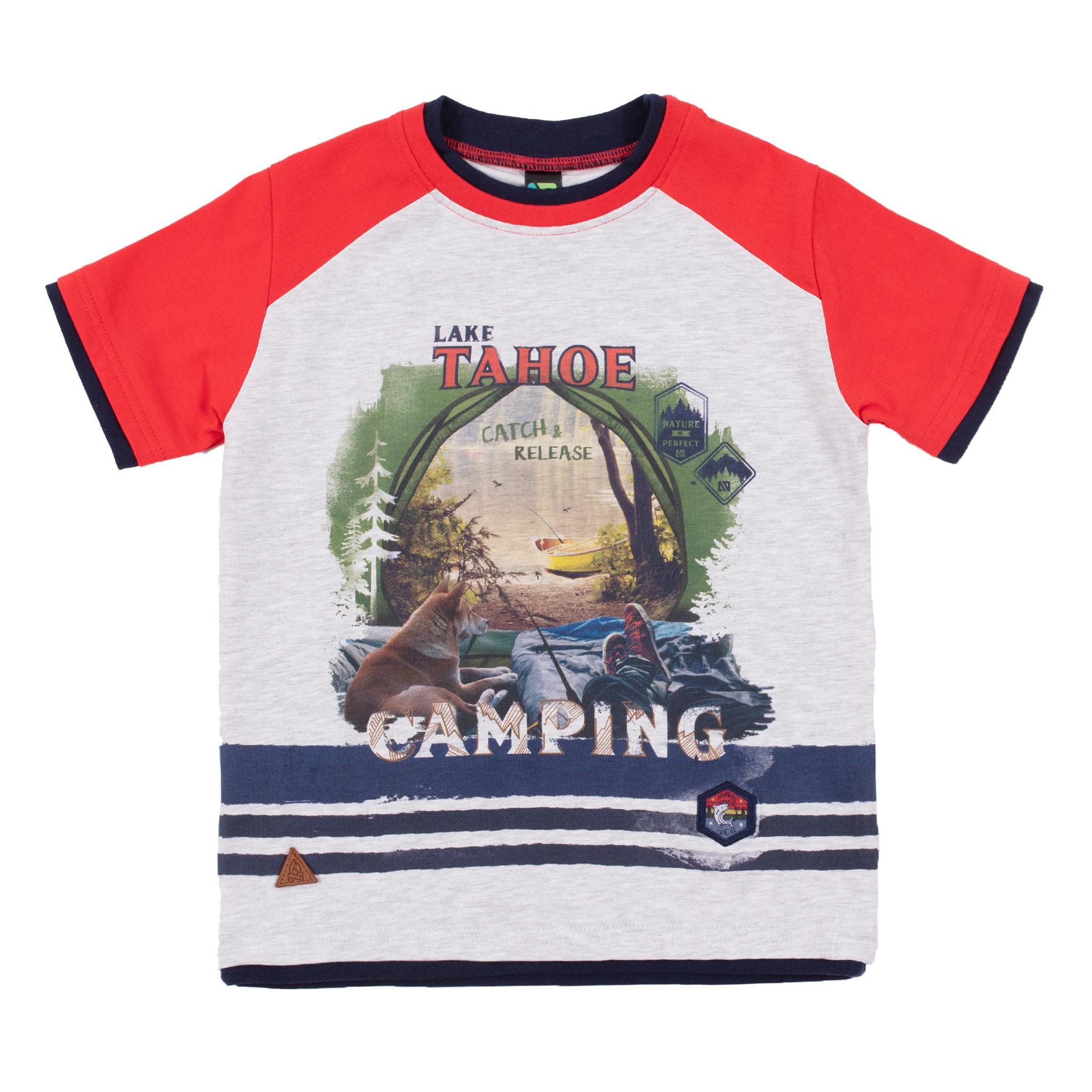 T-Shirt avec imprimé pêche Lâcher prise-1