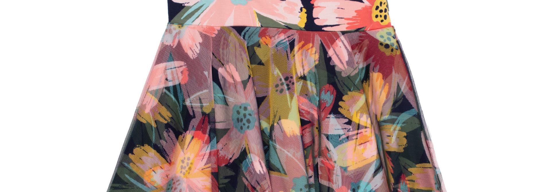 Robe avec voile motif floral Bonjour soleil