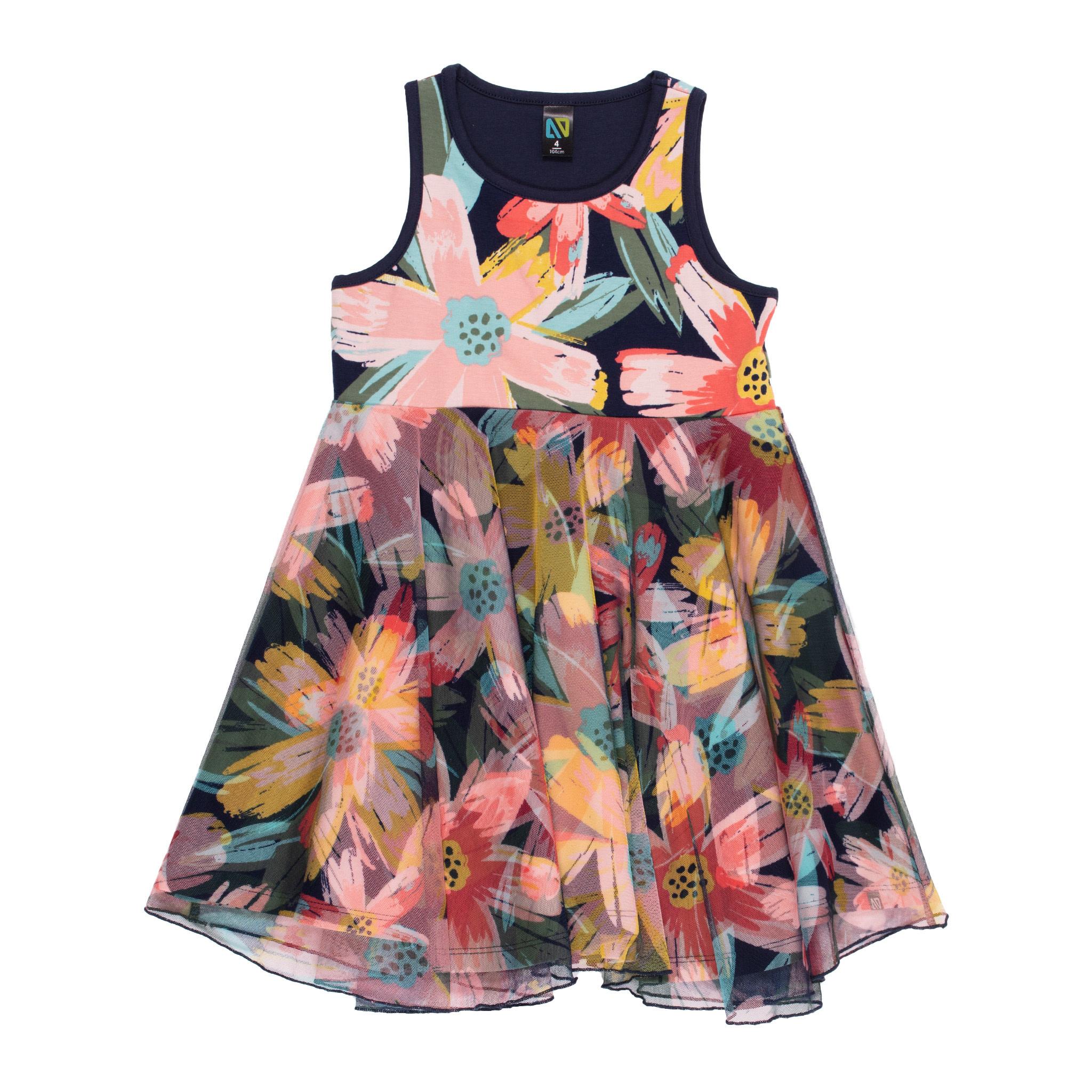 Robe avec voile motif floral Bonjour soleil-1