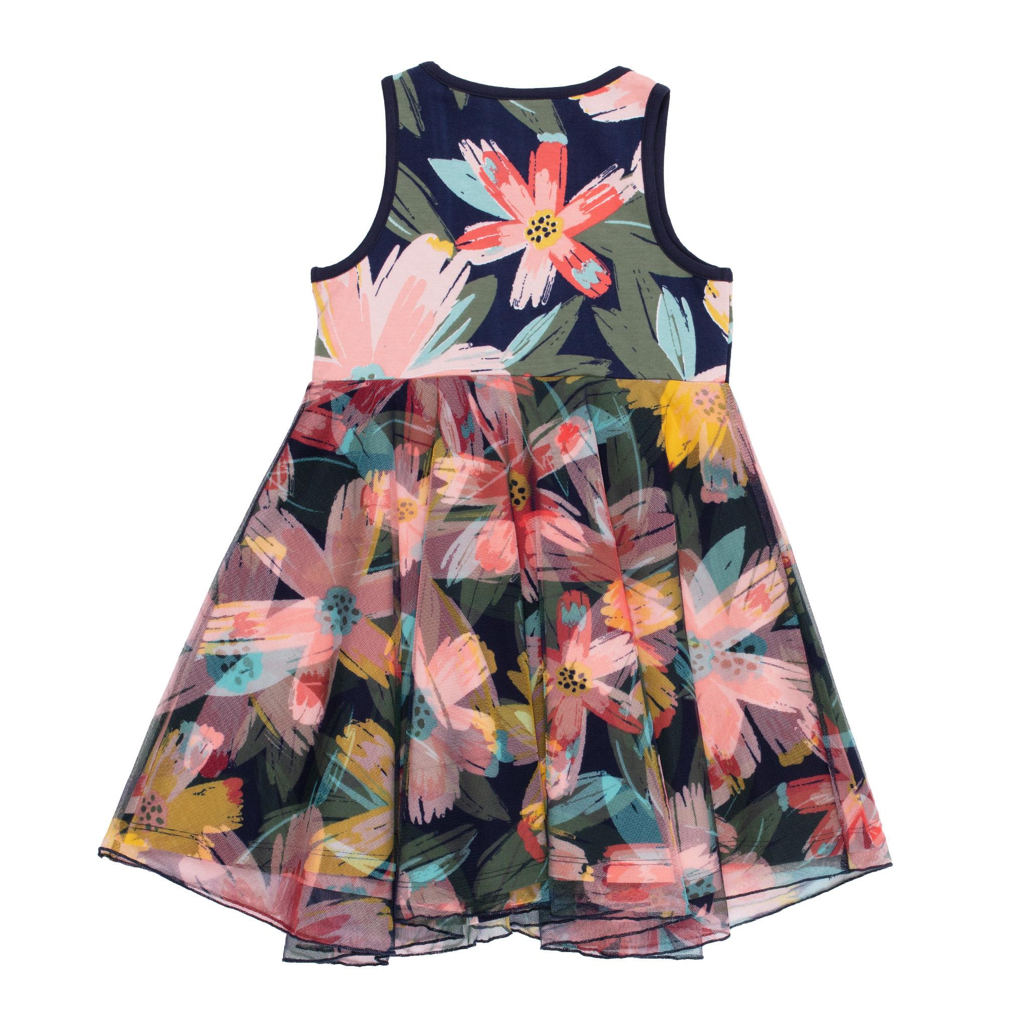 Robe avec voile motif floral Bonjour soleil-2