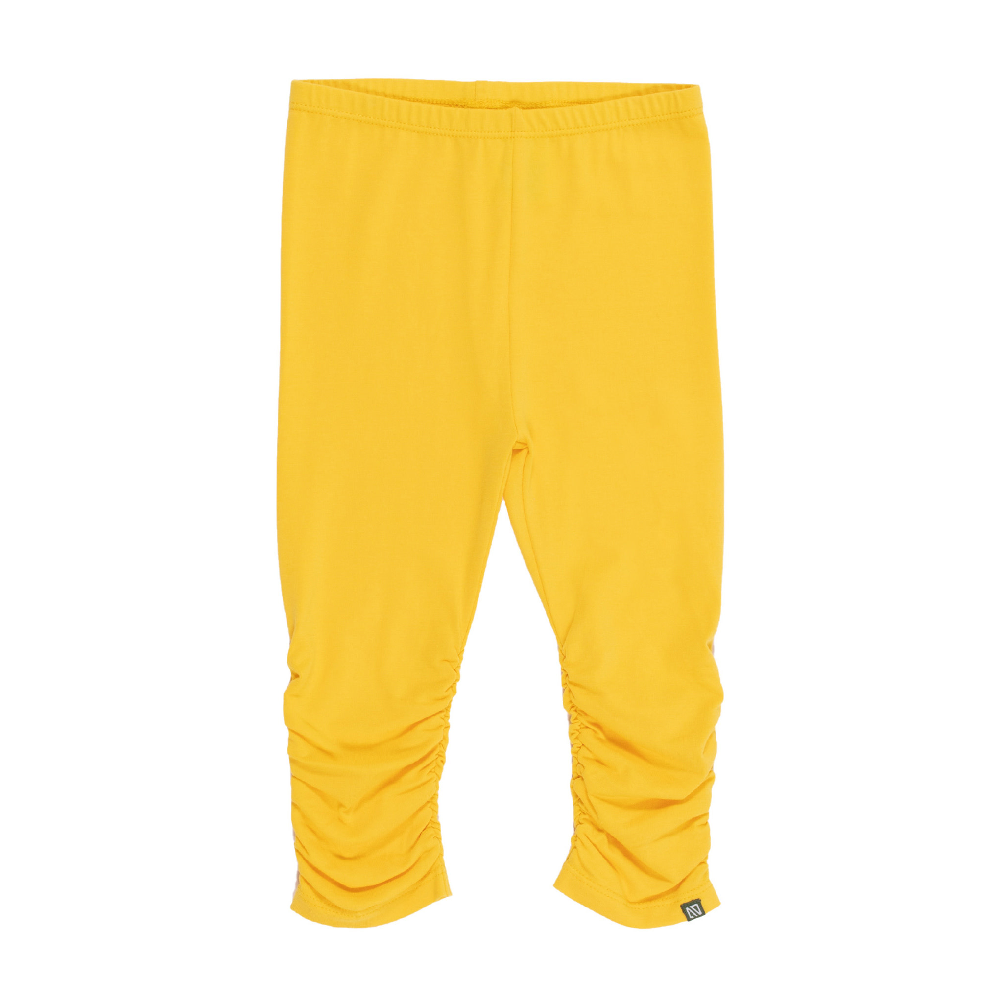 Legging 3/4 jaune Bonjour soleil-1