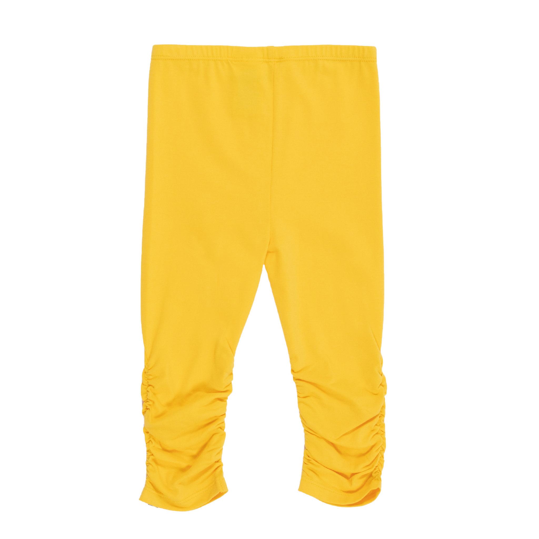 Legging 3/4 jaune Bonjour soleil-2
