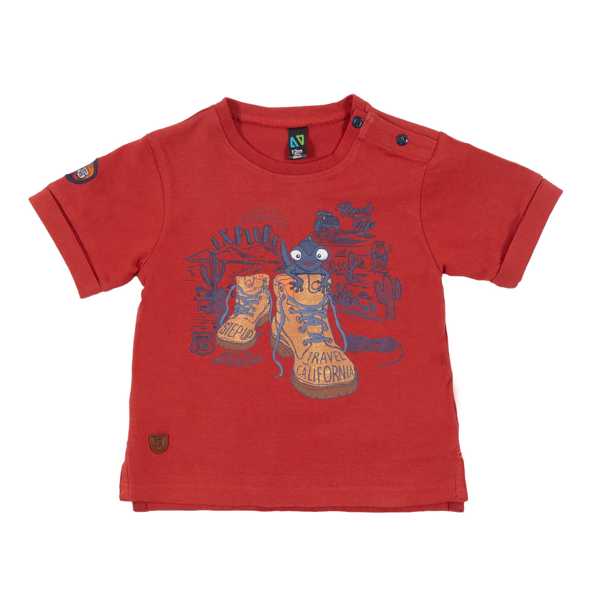 T-Shirt avec imprimé Sur le pouce!-1