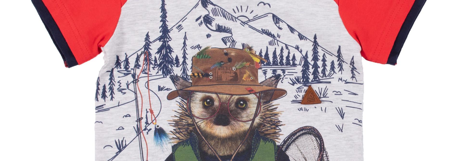 T-Shirt avec illustration Comme un poisson