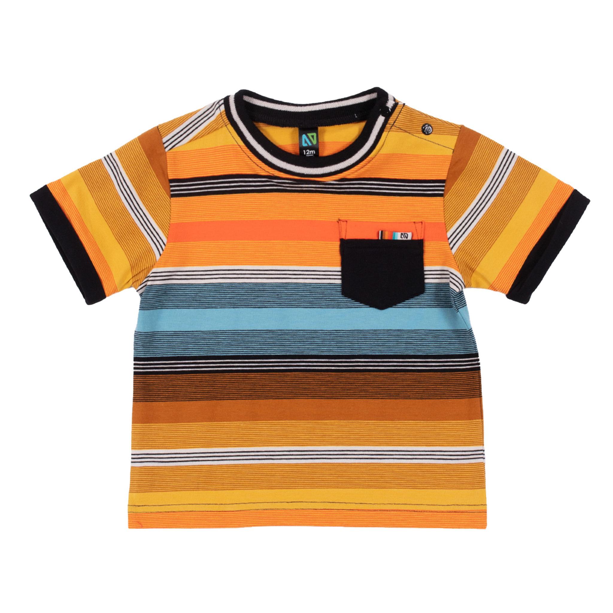 T-Shirt à rayures Mini club des insectes-1