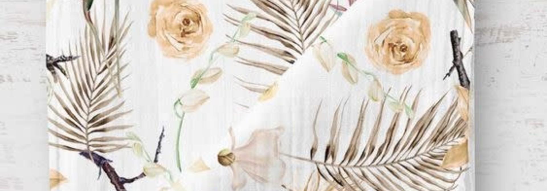Mousseline en bambou - Fleurs séches