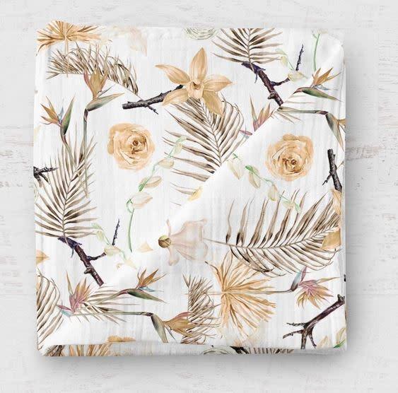 Mousseline en bambou - Fleurs séches-1