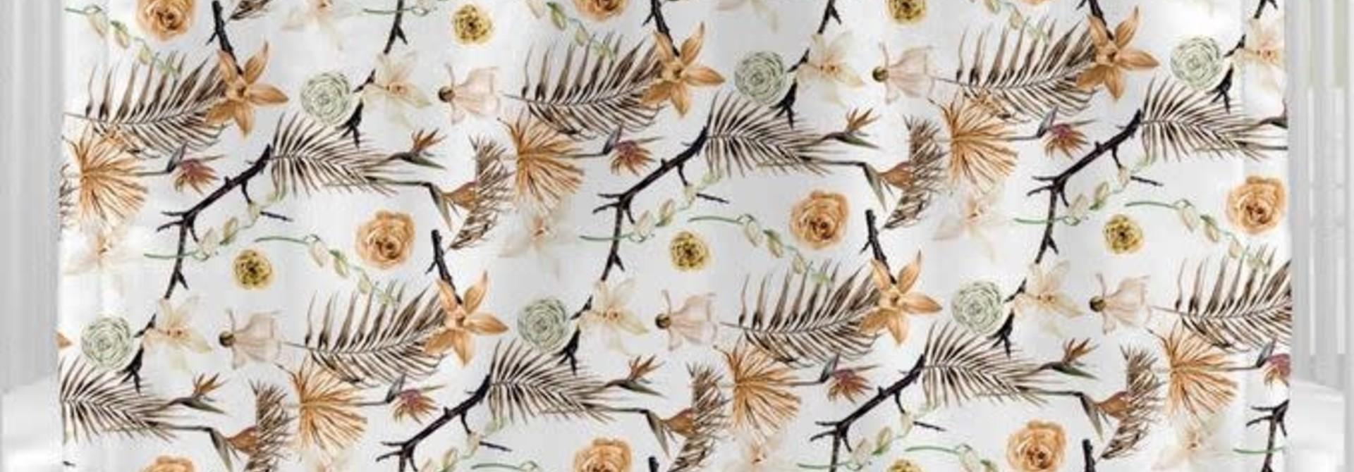 Couverture en Minky - Fleurs séches