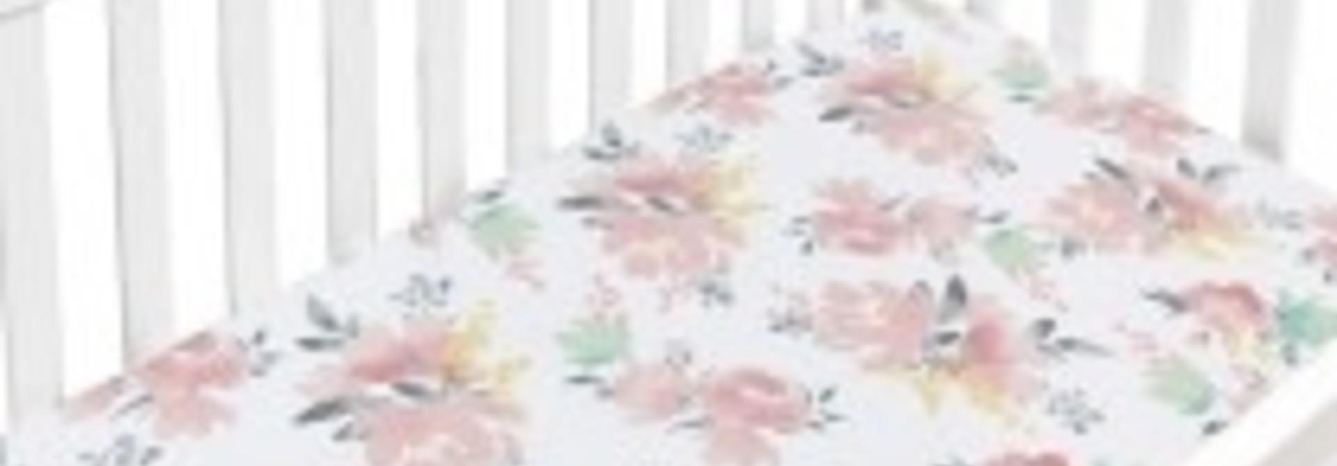 Drap contour percale - Fleurs
