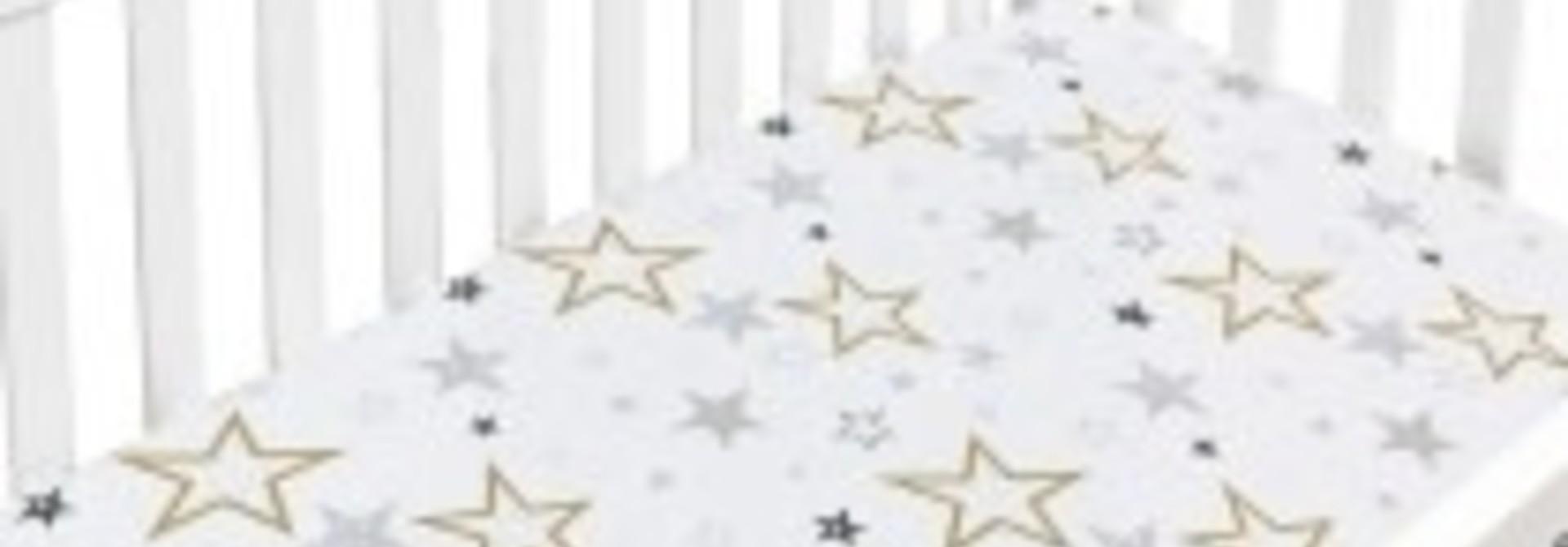 Drap contour percale - Étoiles Dorées