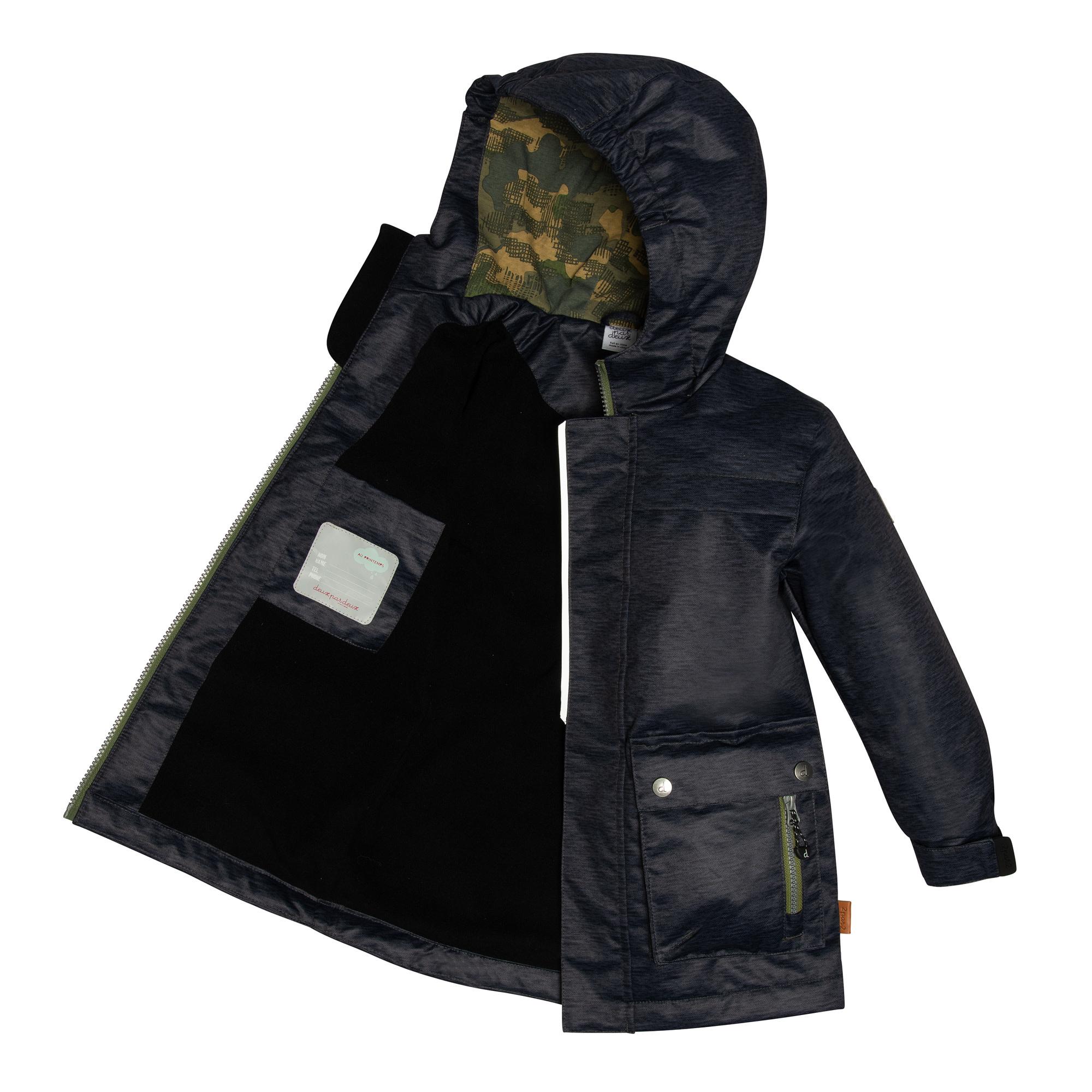 Manteau de pluie - Noir camo-3
