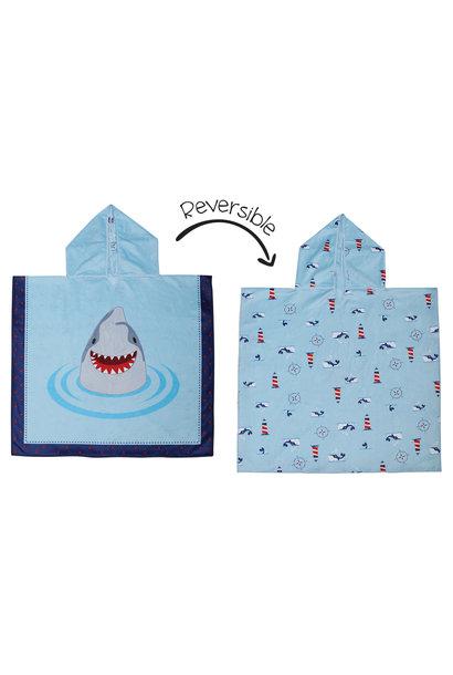 Serviette à capuchon réversible - Requins